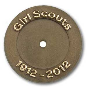 Worn in the anniversary year (2012) by Daisy through Ambassador Girl Scouts with
