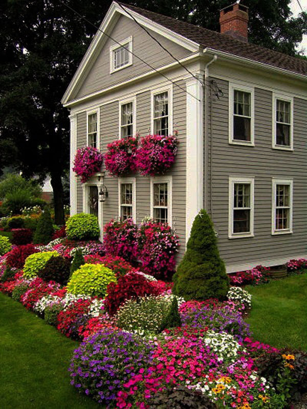 Gorgeous flower beds.