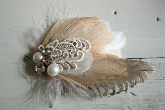 Wedding hairpiece fascinator