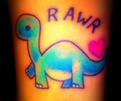 omggg I love this dinosaur tattoo rawr!