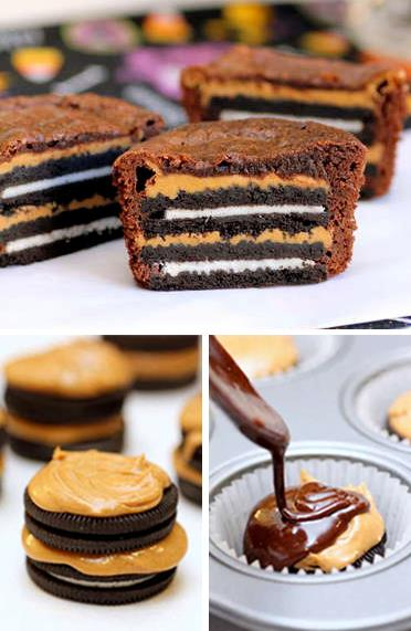 Mind blowing – peanut butter Oreo brownie