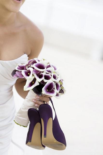 Bouquet/Purple Shoes