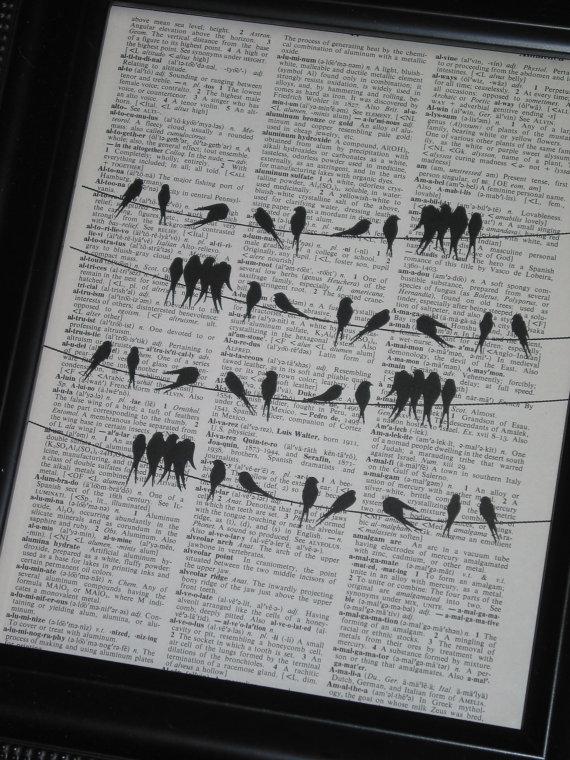 Dictionary Book Page Print Upcycle Wall Art by HamiltonHousePrints, $8.00