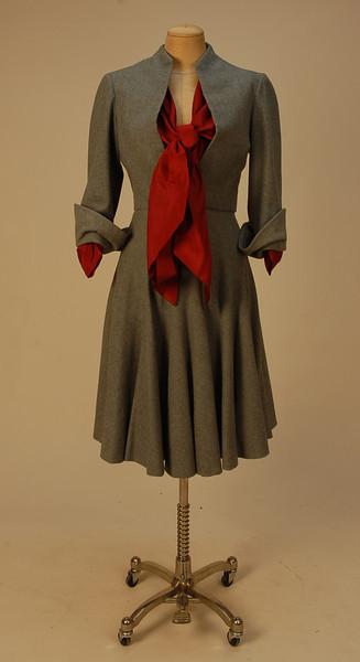 Christian Dior ensemble ca. 1950 via Whitaker Auctions