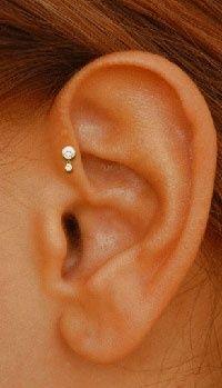 Ear head piercing