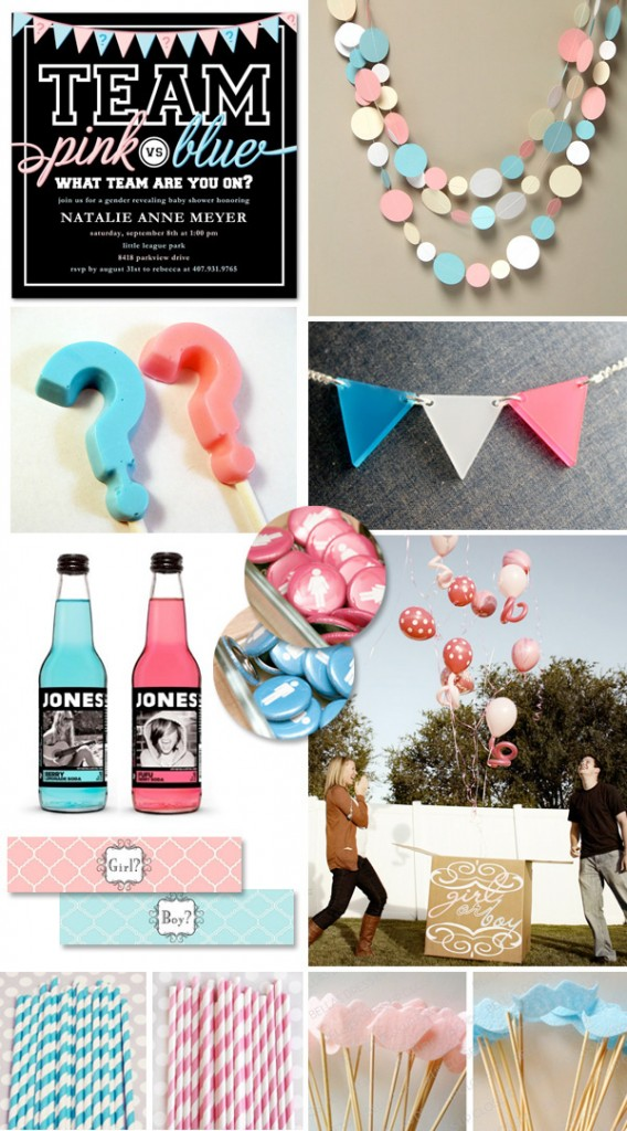How cute! A Boy vs. Girl baby shower. The guest pick a team during the shower de