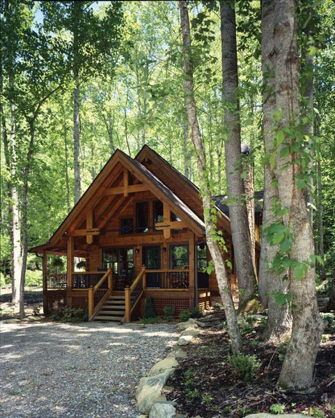 A Hybrid Vacation Cabin in North Carolina
