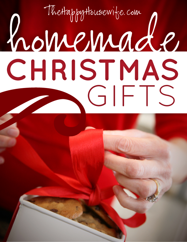 TONS of homemade Christmas gift tutorials! Not sure I will ever pull off any of