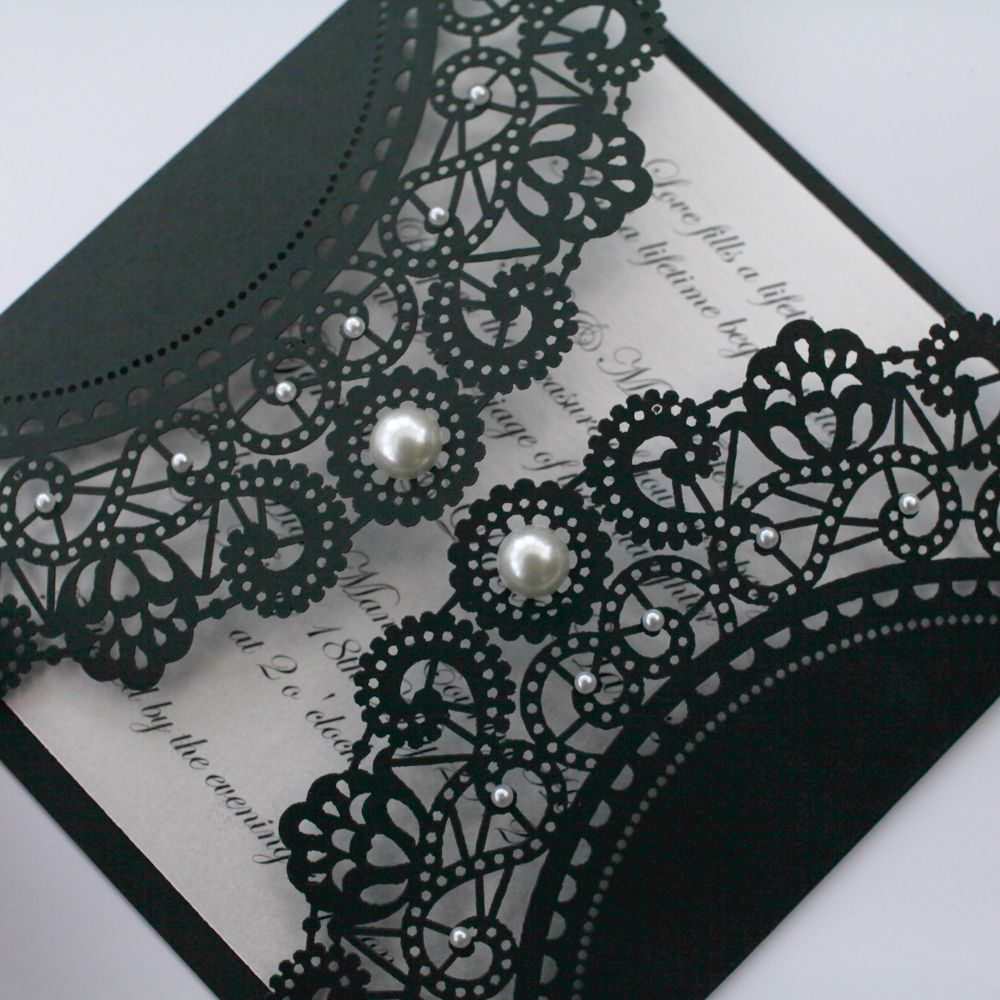 Vintage Style Lasercut Black Lace Doily Invitation- would like just not in black