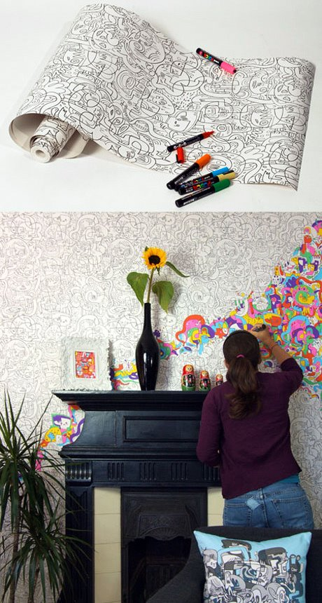 color in wallpaper.  I could see using this inside a picture fram or within pict