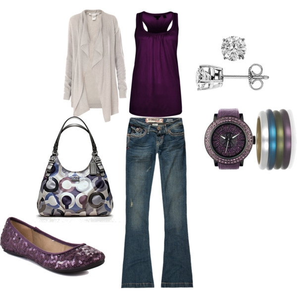 Purple with other accents….Adorable! outfits-outfits-outfits