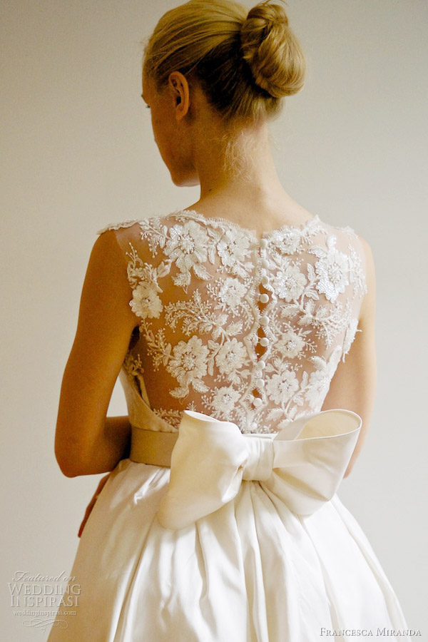 francesca miranda bridal spring 2013 emanuelle wedding dress lace portrait back