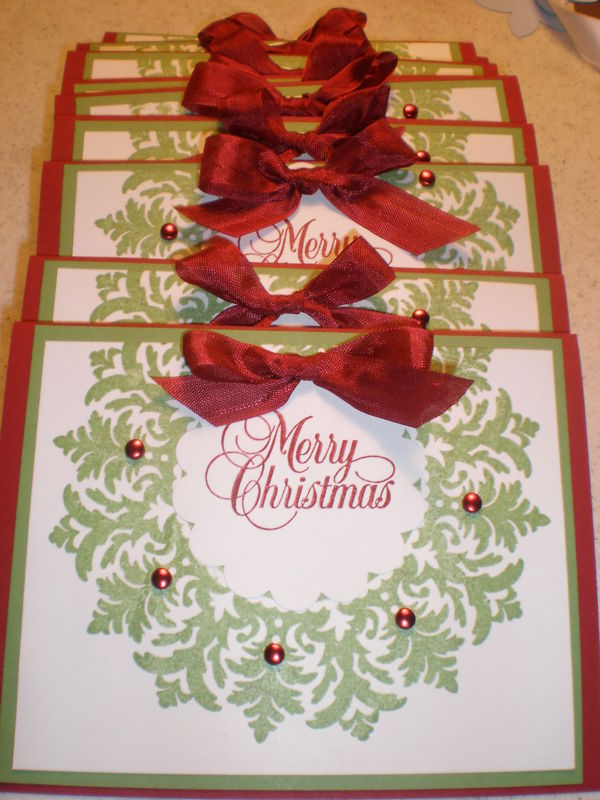 Easy but effective Christmas Card with Stampin Up.