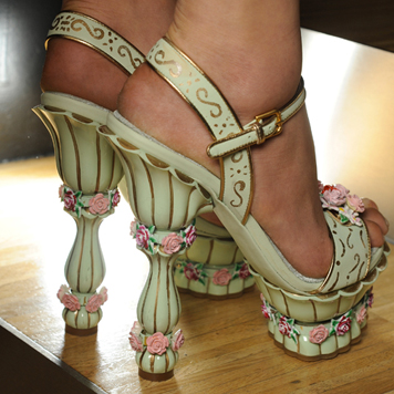another view of these Marie-inpired shoes from Dolce and Gabbana