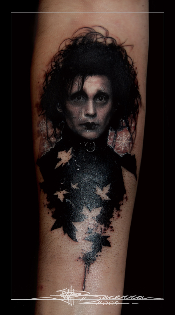 Good work on the Edward Scissorhands tattoo