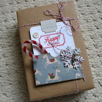 A little busy for my taste, but I like the idea of wrapping with craft paper and
