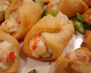 Crab & Cream Cheese Crescent Rolls…super easy appetizer!