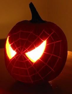 Spiderman pumpkin.