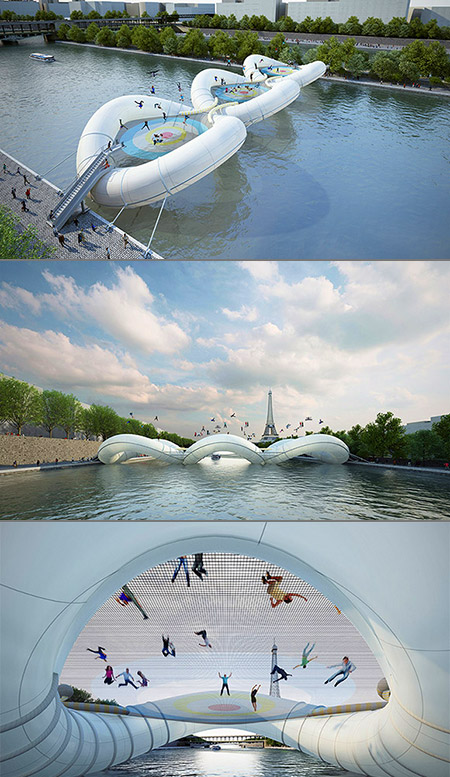 """Not just any bridge, """"A Bridge in Paris"""" is exactly as it sounds, a tr"""