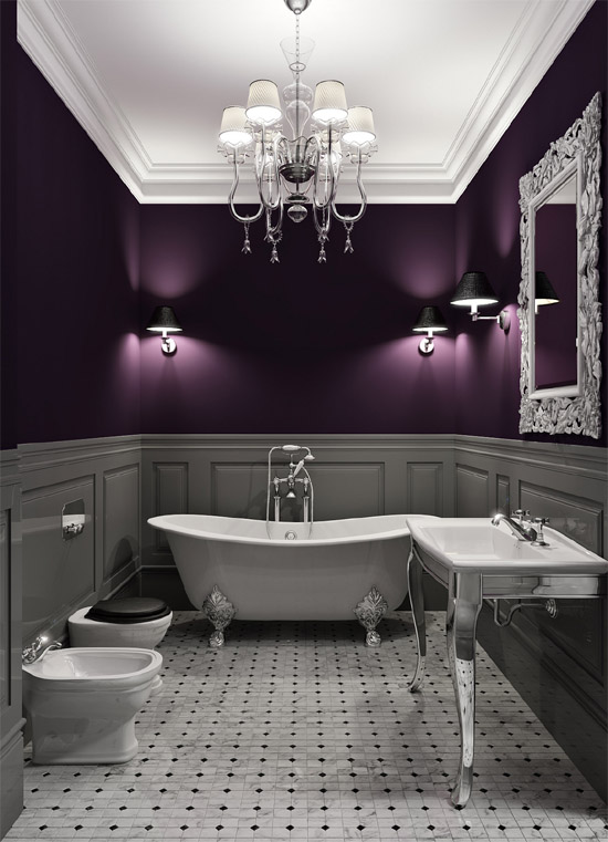 Love love love the dark purple walls