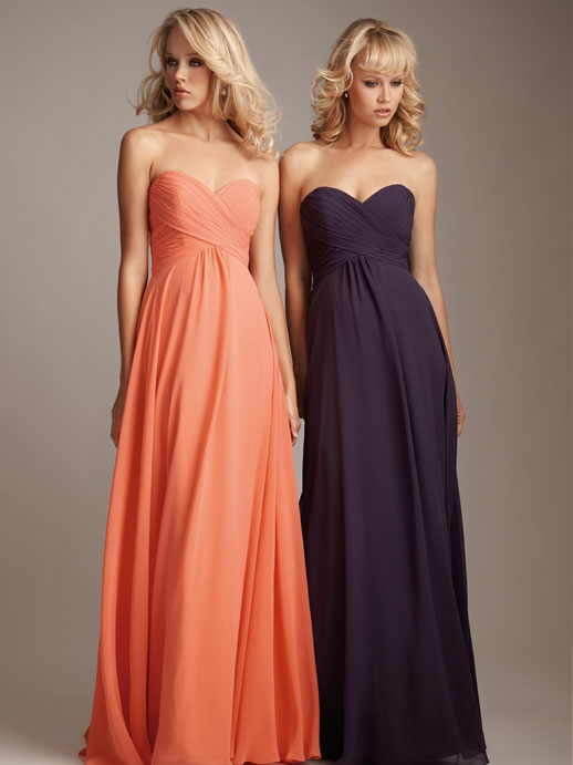 sweetheart bridesmaid gowns-love the style