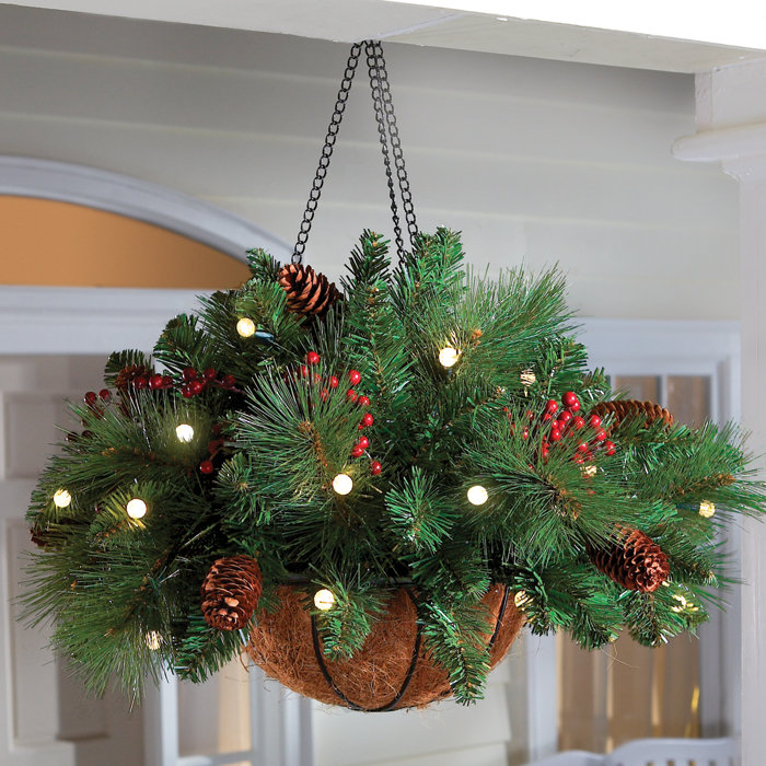 Grab hanging baskets now on summer clearance sales! Add a few springs of garland