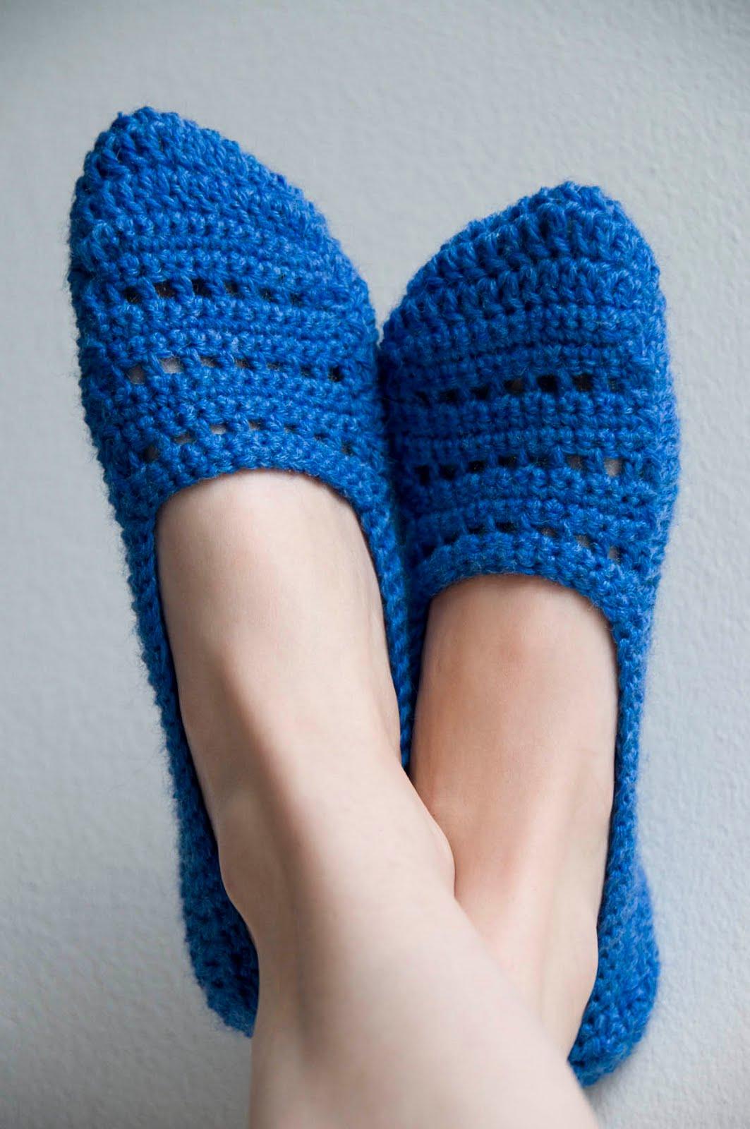 Crocheted sock slippers pattern