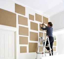 Do this before making a gallery wall. Hold piece of paper on back of frame and m