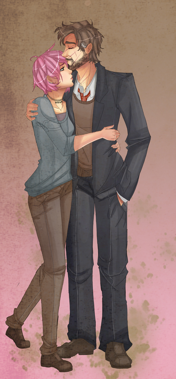Tonks and Lupin. :) and ;( combo.