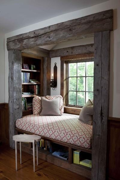 Rustic window seat