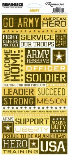 Stickers-Army Quote #MemorialDay #Scrapbooking