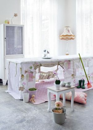 Playhouse for baby under the table