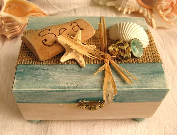 Ocean treasure box for your beach decor.
