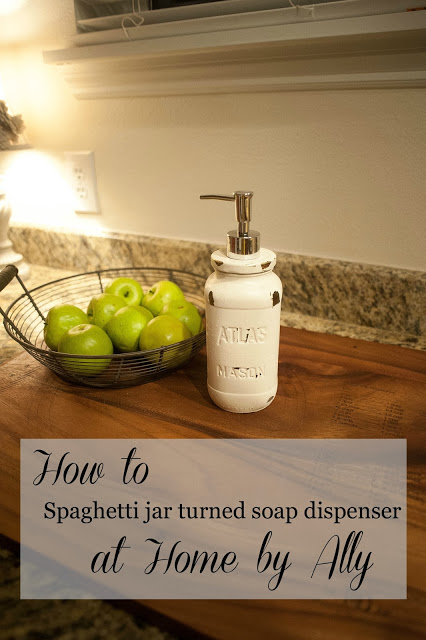 How to: Use a spaghetti sauce jar to make a soap dispenser