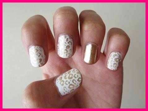 cute accent nails