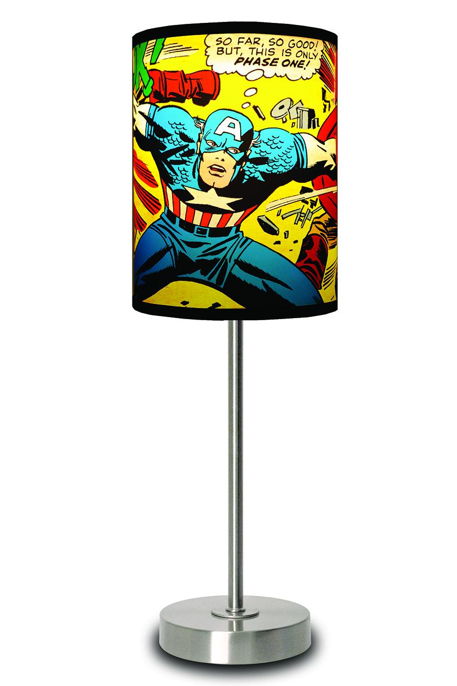 Marvel Comics Capt. America Close Up Lamp by Lamp-in-a-Box @ Jack Threads — wan