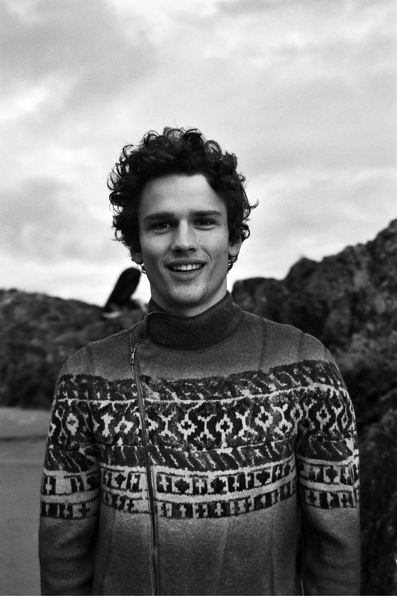 Simon Nessman styled with Giorgio Armani total look captured by Gillian Mansonhi