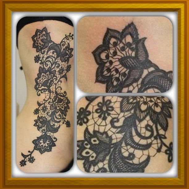 Fabulous Lace Tattoos Ideas
