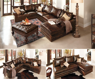 Great leather sectional.