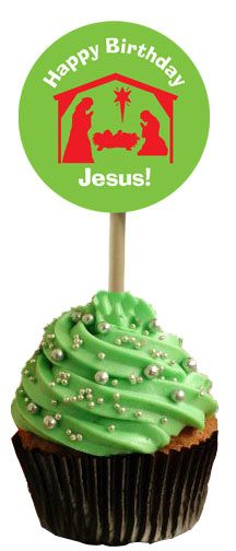 Nativity Cupcake Toppers