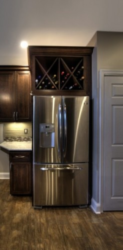 How convert cabinet to wine storage