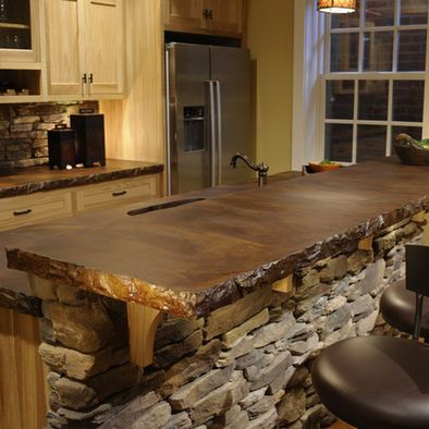 Stained Concrete countertop!