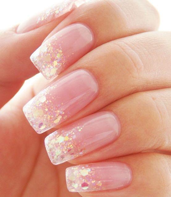 super cute sparkles nails