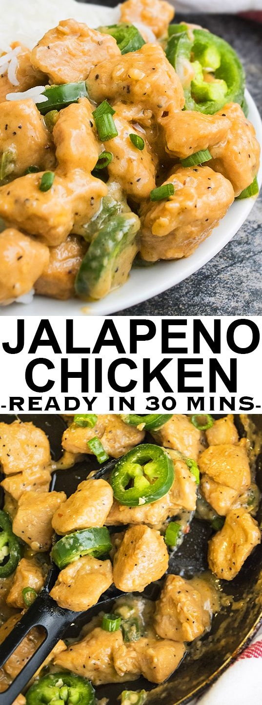 This quick and easy JALAPENO CHICKEN