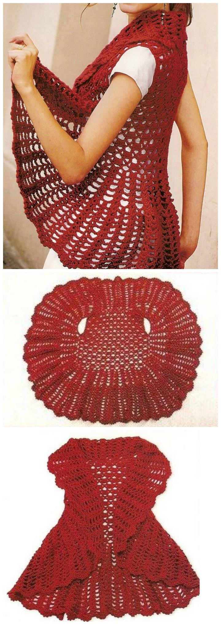 12 Free Crochet Patterns for Circular Vest Jacket