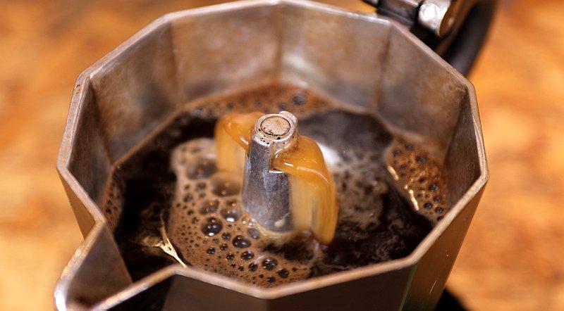 Coffee Brewing In Moka Pot