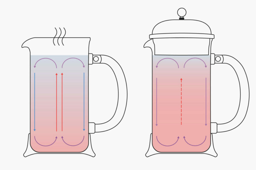 French Press Convection Currents