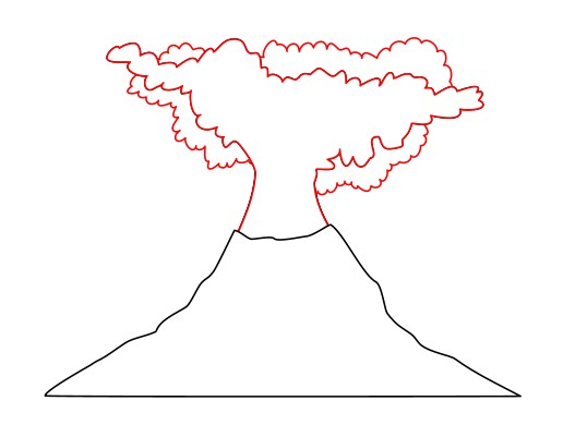 Drawing A Cartoon Volcano