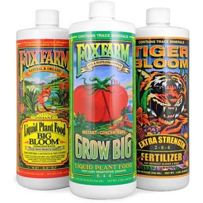 Fox Farm Nutrients for growing marijuana indoors