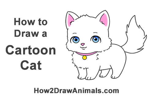 Cartoon cats to draw for How to draw a cartoon kitten